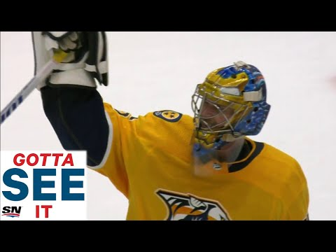 GOTTA SEE IT: Pekka Rinne Wins Game No. 320 In Front Of Predators' Fans