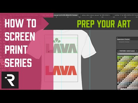 How to Screen Print Series - Art Preparation