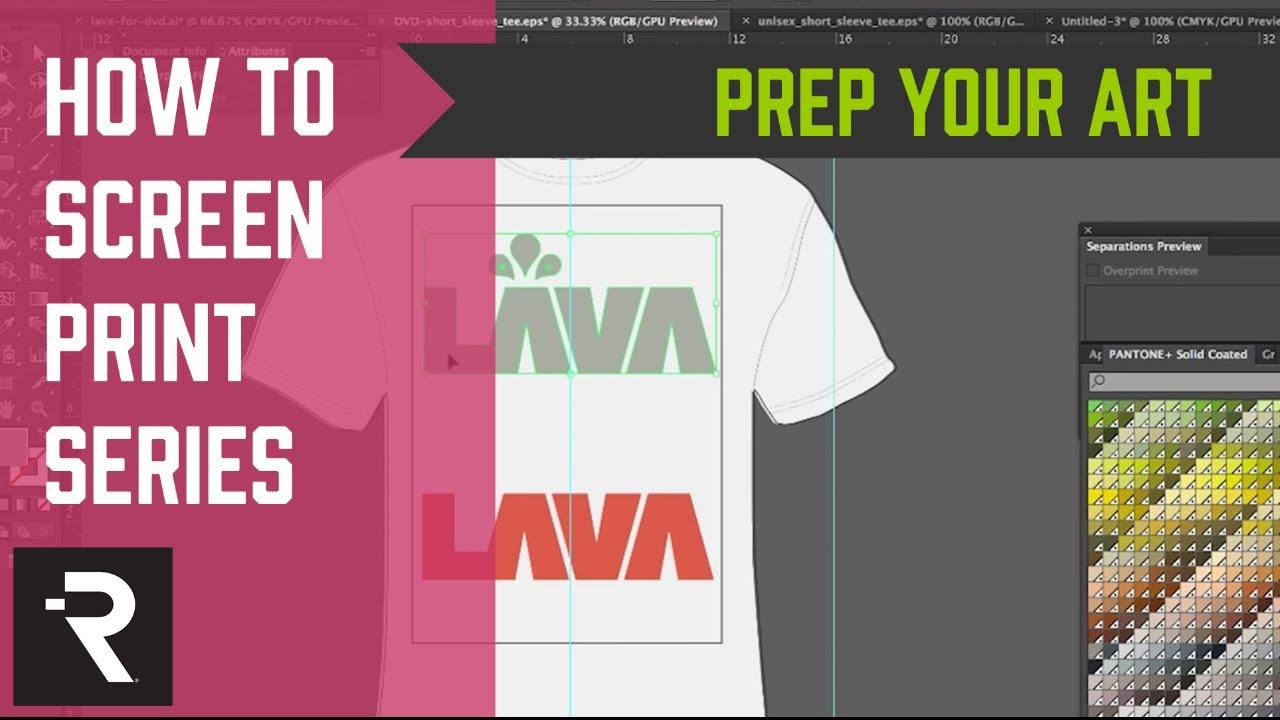 2c4ed6bd How to Screen Print Series - Art Preparation - YouTube