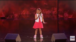 angelica Hale  9 Year Old Earns Golden Buzzer From Chris Hardwick   America's Got Talent 2017