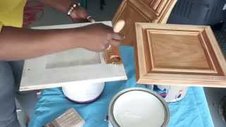 How To Paint Your Kitchen Cabinets - Diy Part 2