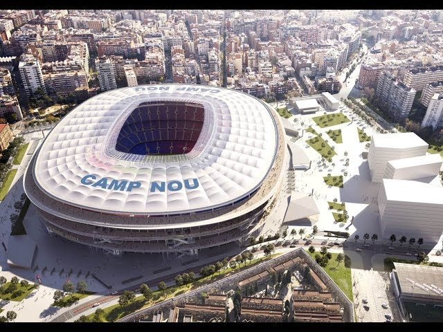 barcelona to revamp camp nou espai barca project will see stadium capacity increase to 105 000 london evening standard barcelona to revamp camp nou espai