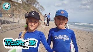 """Niñas surfistas en Nicaragua"""