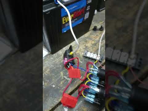 How to wire a switch panel DCFlat 5 pin 4 gang marine boat circuit rocker switch panel.
