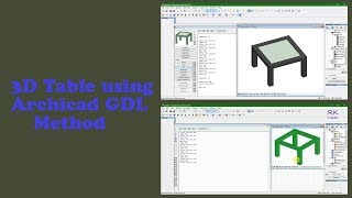 Archicad GDL Tutorial - 3D table using scripting method