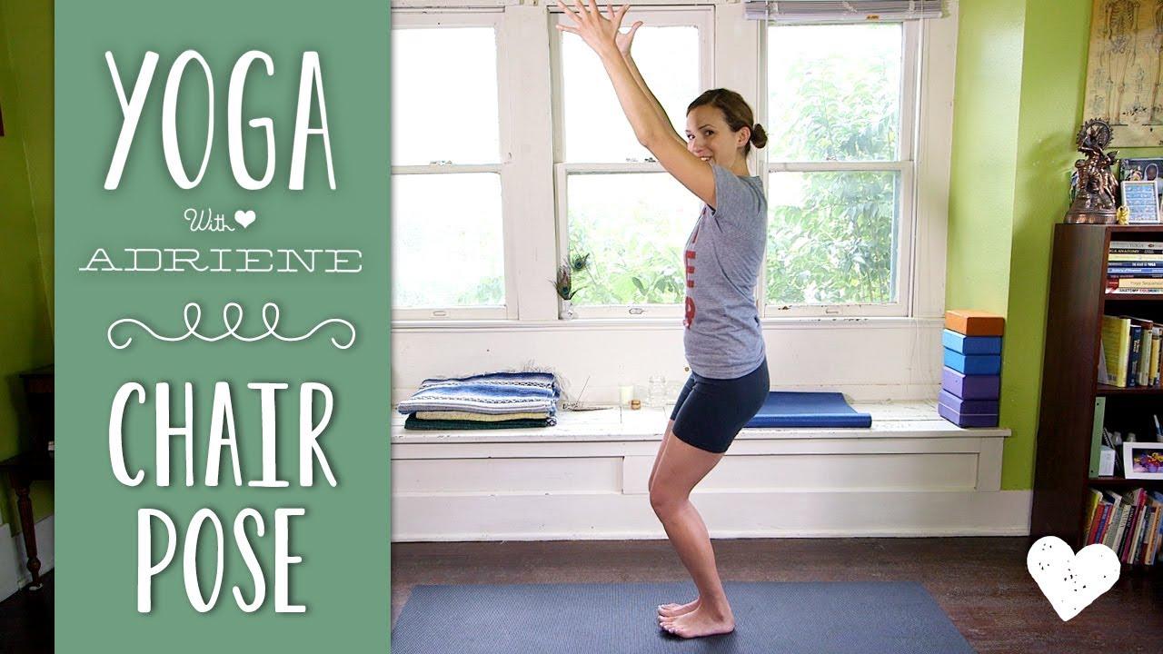 Yoga Chair Pose Thermarest Trekker 20 Utkatasana Youtube