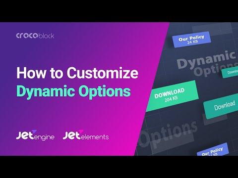 Download Button: Dynamic Options |  JetElements And JetEngine Plugins