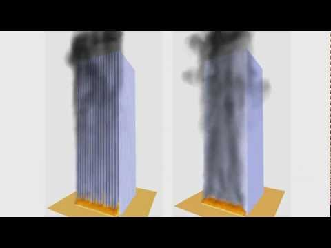 Fire simulation in high rise building - part I Music by Epic Soul Factory
