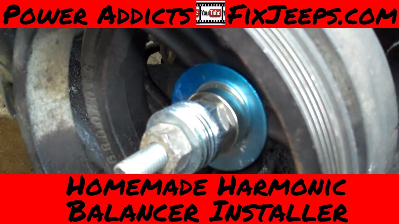 small resolution of homemade harmonic balancer installer