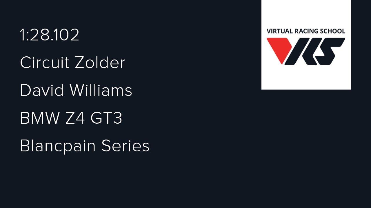 2016S4 - Week 5 (Zolder) - BMW Z4 GT3 - Blancpain Series