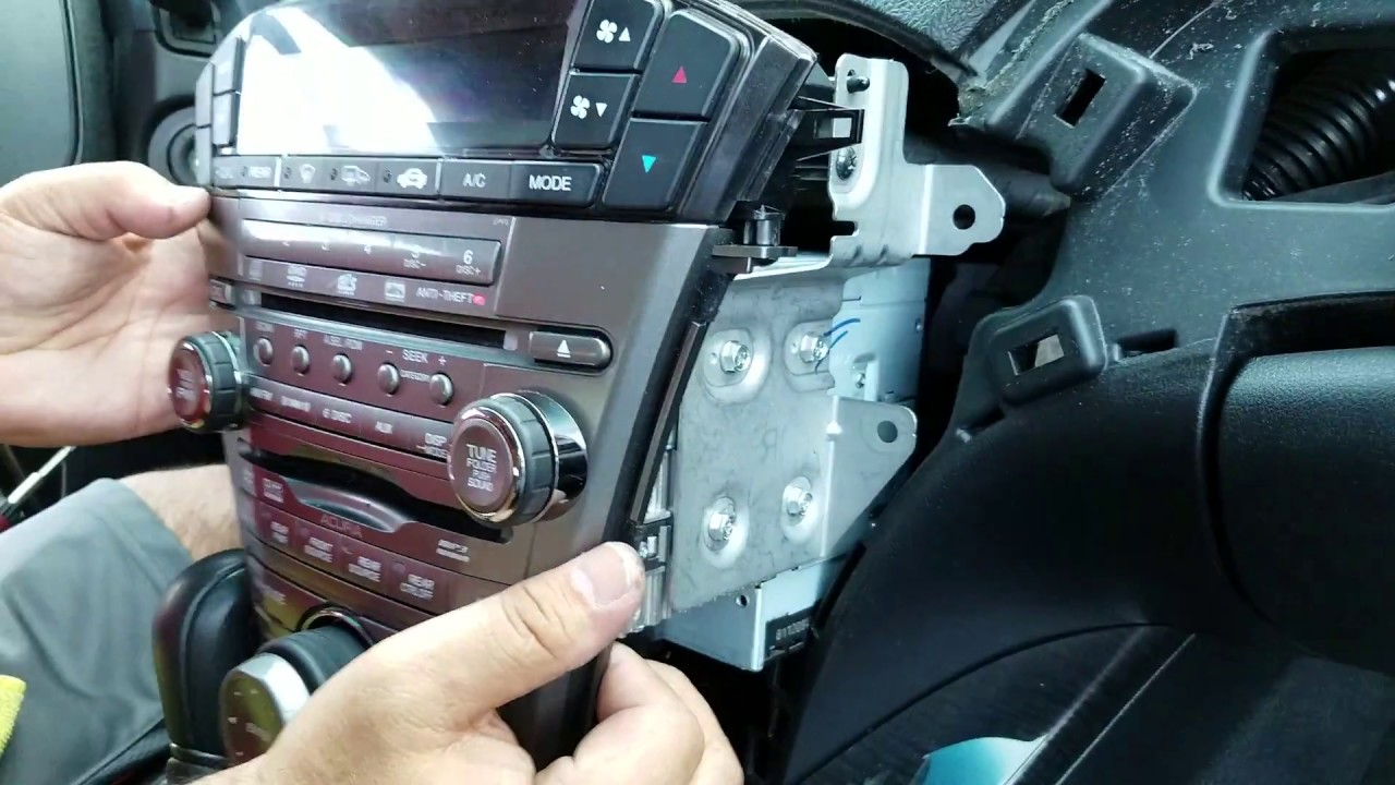 how to remove radio navigation cd dvd player from acura mdx 2009