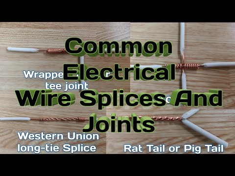 Common Electrical Wire Splices And Joints Video Tutorial Tagalog Youtube