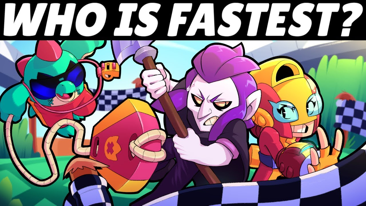 Every Brawler Races for 1st! | Who is FASTEST?!