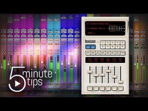 5-Minute UAD Tips: Lexicon 480L Digital Reverb & Effects
