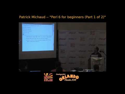 Perl 6 for beginners -- part 1 of 2
