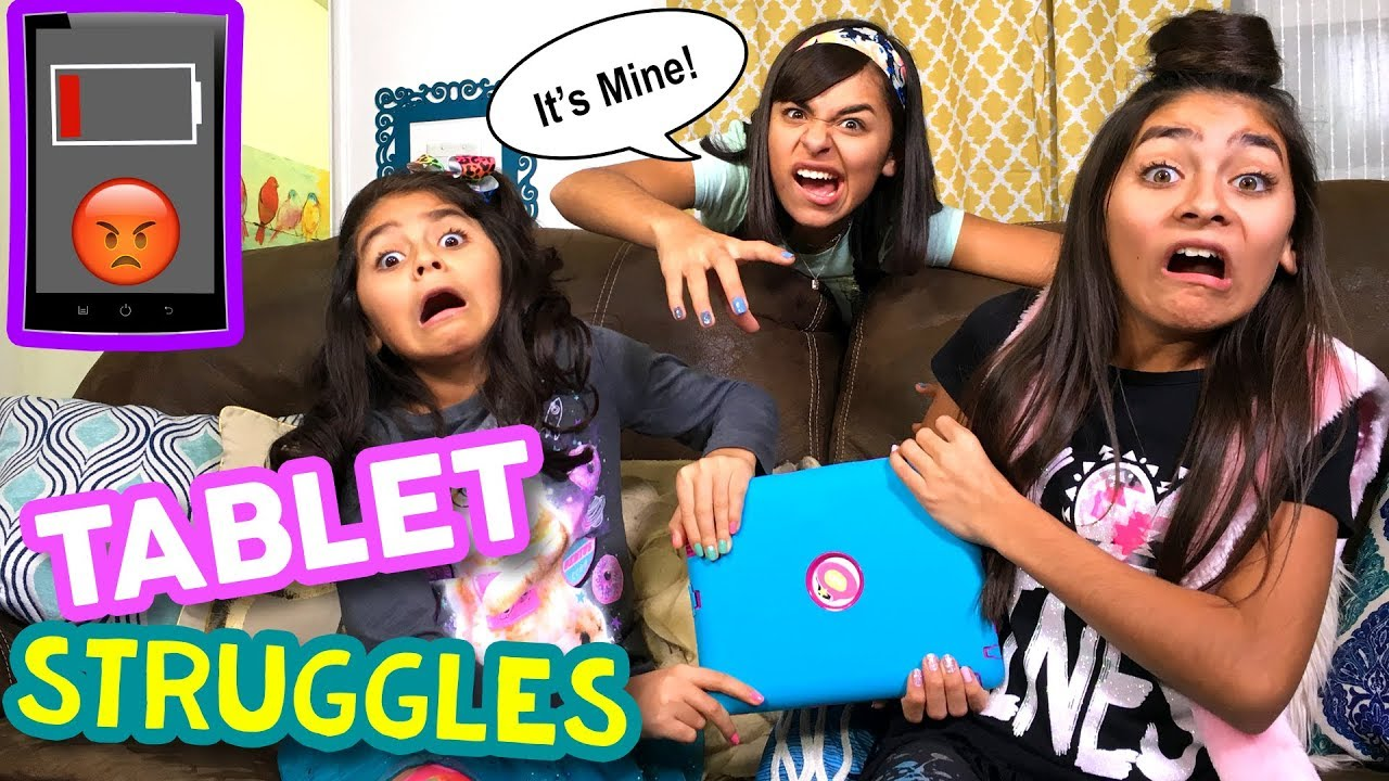 The Homework Struggle Parody Every >> Tablet Struggles Types Of Kids Funny Skits Gem Sisters