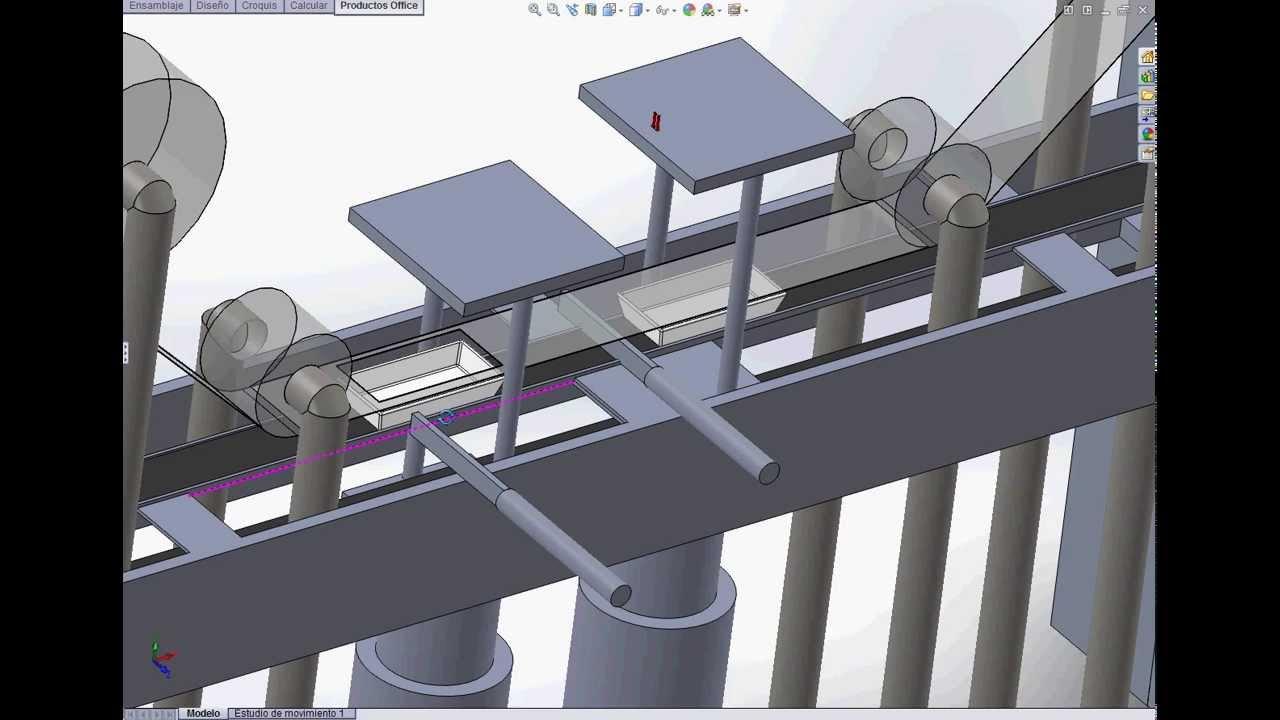Dosificador Para Granos: Visualització De La Màquina Envasadora. SolidWorks