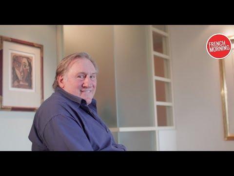 """Gérard Depardieu à New York pour la promotion de son livre """"Innocent"""""""