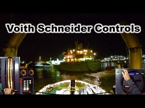 Tugboat Dual Camera #3 - NightShift ! Voith Schneider Controls