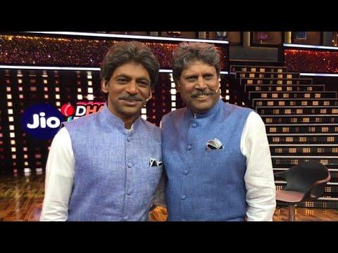 Sunil Grover mimicking kapil dev infront of kapil dev