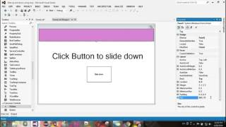 Vbnet slide up and down panel tutorial