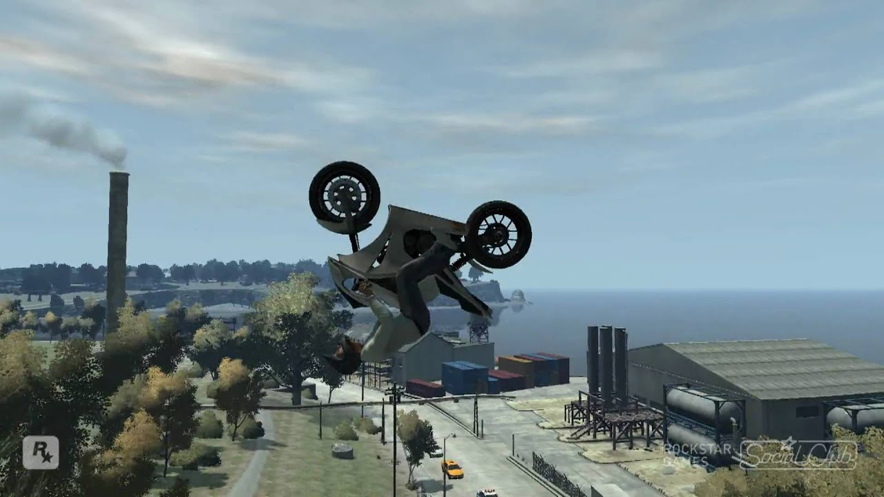 Stunt Wallpaper Hd Gta Iv Bike Stunts Including Triple Backflip 1080p Hd
