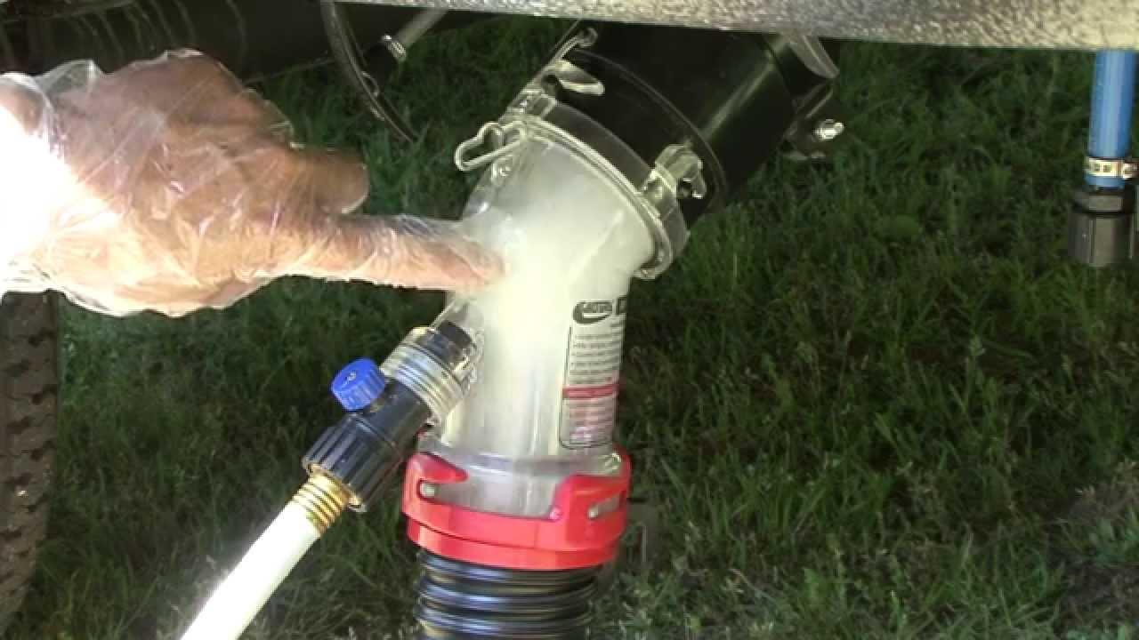 Rv Hydro Flush Tank Flushing Solution Youtube