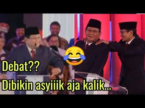 Lucu Prabowo jo saat debat capres 2019