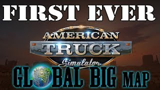 American Truck Simulator Global Big Map First TIme EVER  + Some MP
