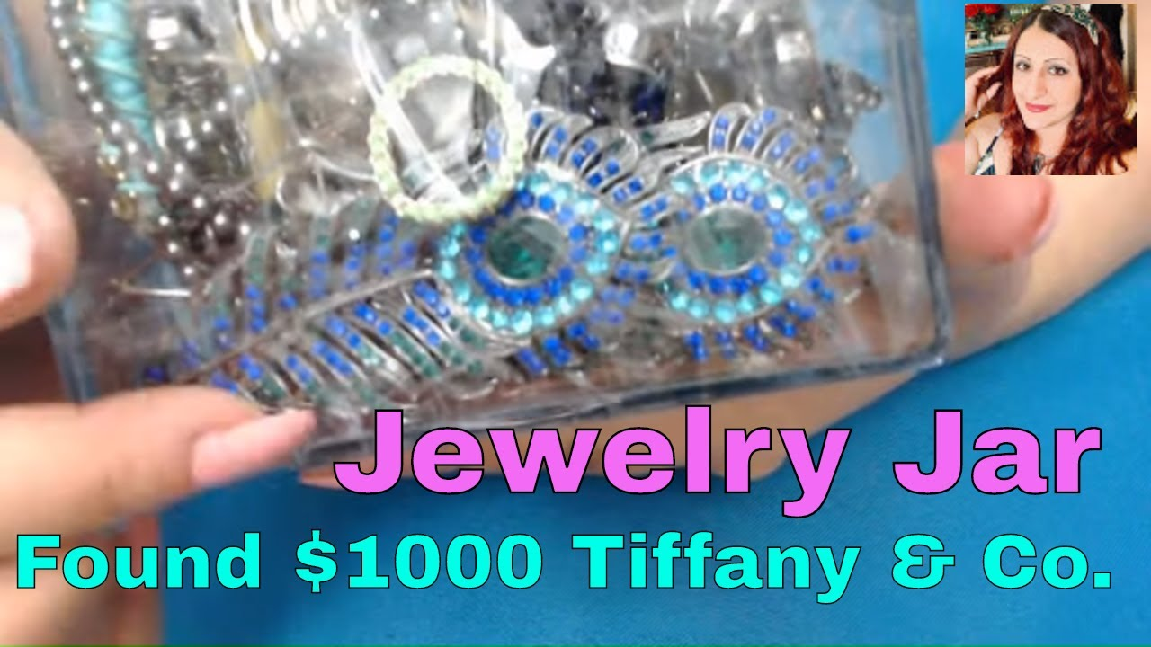 Jackpott ! My First Jewelry Jar After Quarentine, Found $1000 Tifffany and Co.