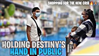 HOLDING DESTINY'S HAND IN PUBLIC 😳 + shopping for the NEW CRIB 🔥