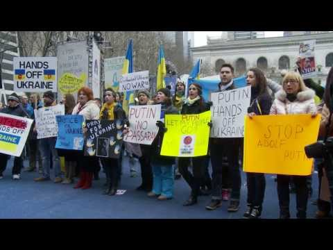 NY protest against war in Ukraine in New York City