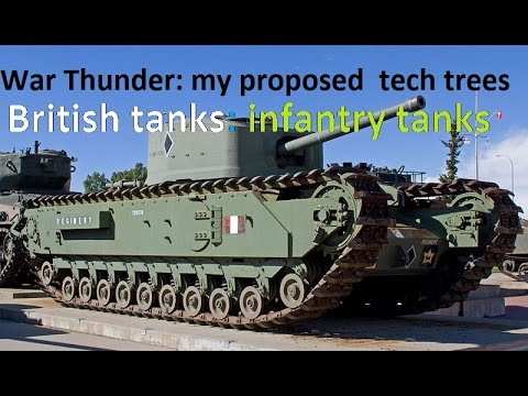 War Thunder: my proposed future British tanks tech tree: Infantry/heavy tanks (Part 2)