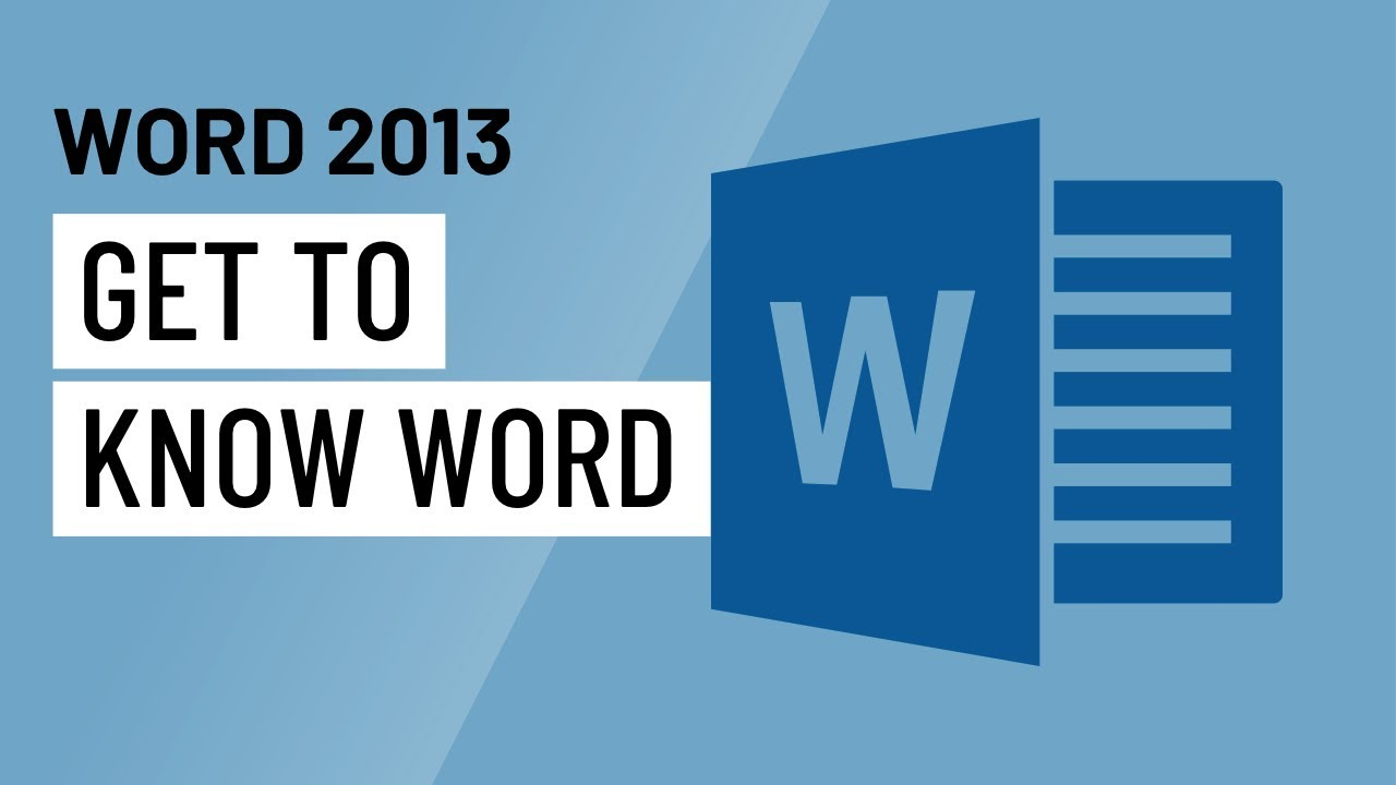 Word 2013: Getting Started