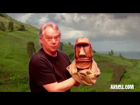 """""""Stone Head"""" The Moai Tiki - A New Character From Axtell Expressions"""