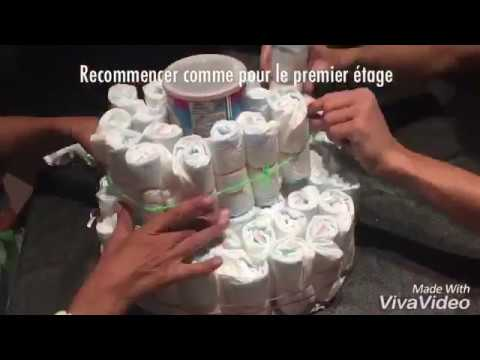 Faire un g teau de couches facilement youtube - Comment realiser un gateau de couches ...