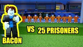 1 BACON HAIR COP vs 25 CRIMINALS *IMPOSSIBLE CHALLENGE* | Roblox Jailbreak