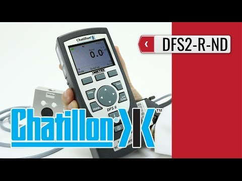 CHATILLON DFS II R-ND : Digital Force Indicator (product video presentation)