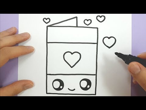 How To Draw A Happy Love Heart Card EASY