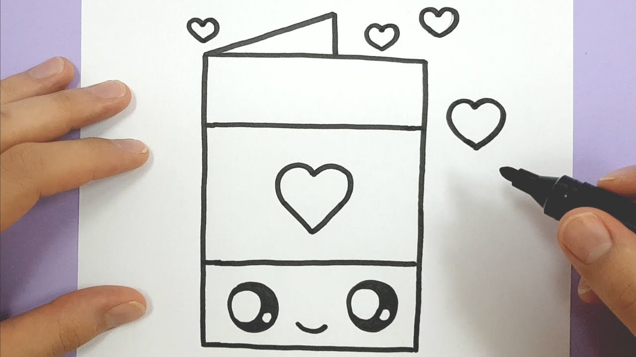 How To Draw A Happy Love Heart Card EASY #1