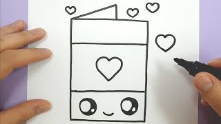draw easy card happy heart valentine