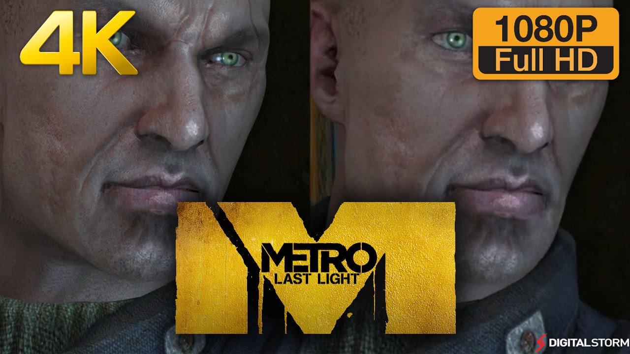 4K vs 1080p Graphics Comparison - Metro Last Light - YouTube
