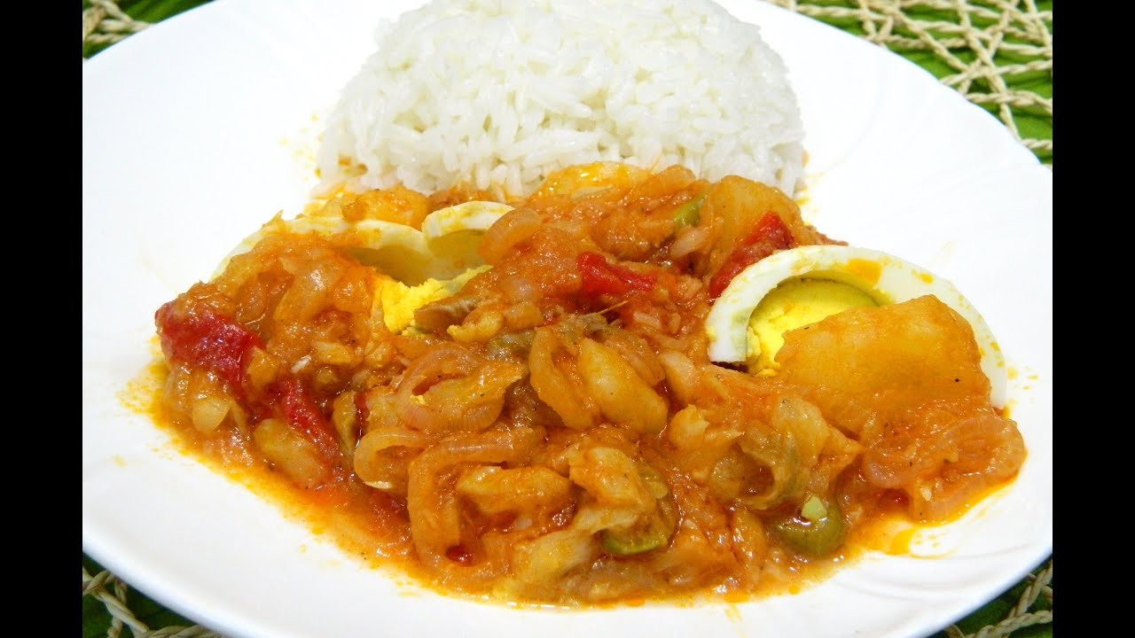 Bacalao ala vizcaina or basque style cod fish stew youtube for Cod fish stew