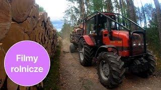 Lot dronem między drzewami 😲 Trzy traktory BELARUS w akcji