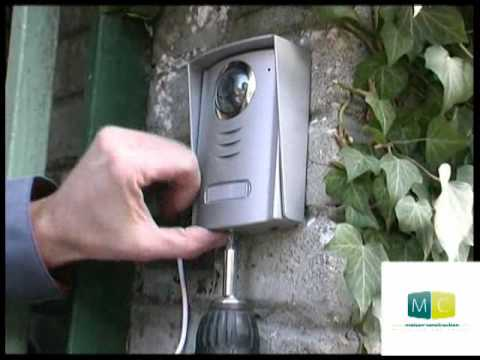 bricolage interphone vid o pose diy installing a video intercom youtube. Black Bedroom Furniture Sets. Home Design Ideas