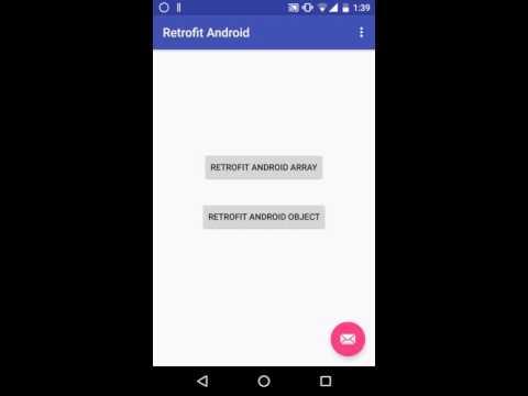 Retrofit Android Tutorial : Example of Retrofit 2 0 capturing JSON