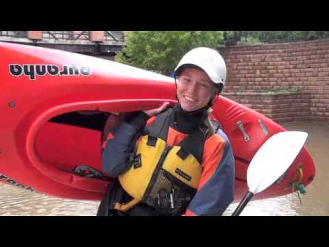 Kayaking flooded Clear Creek in Golden CO 2013, Interview
