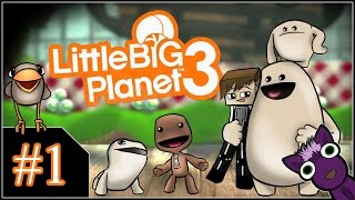 Little Big Planet 3 (PS4) - #1 Introducción y picos Cañamazo - Español