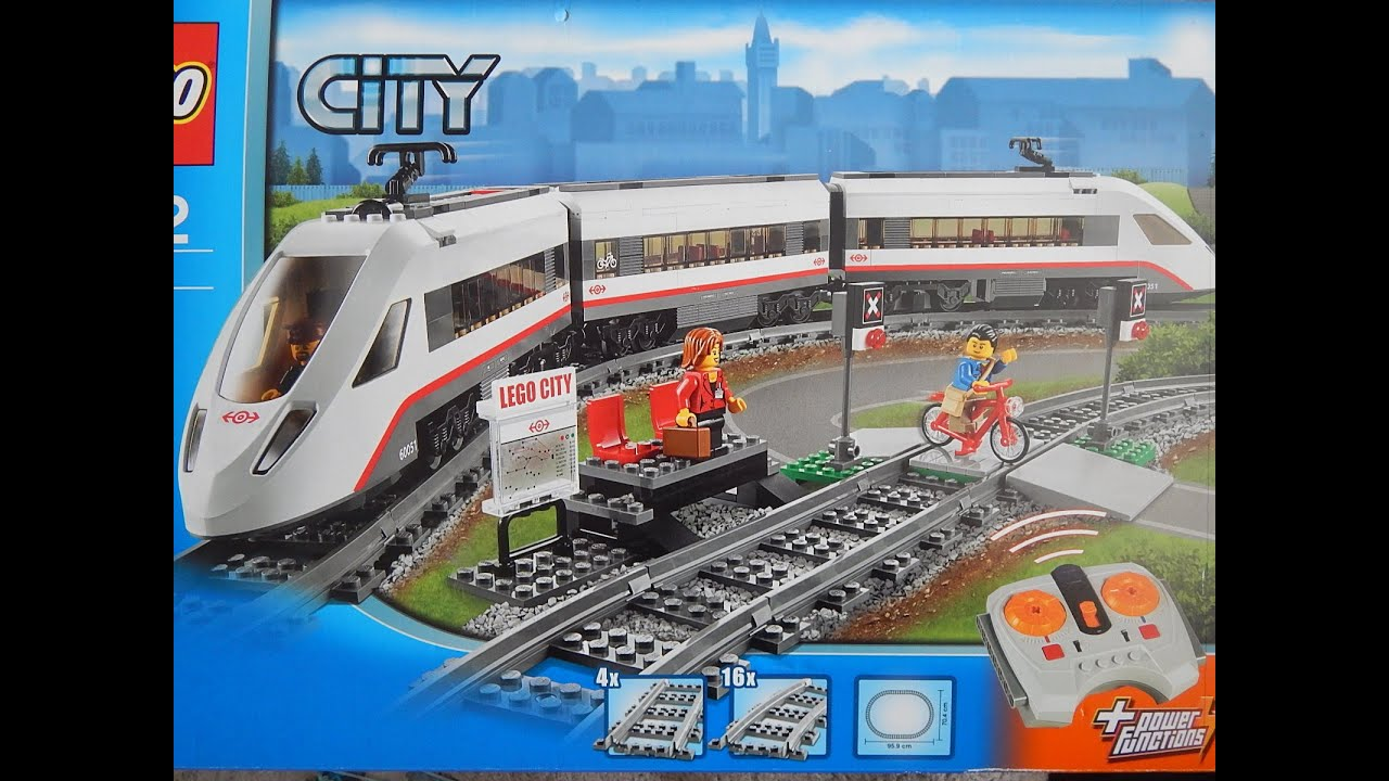 Lego Instructions City High Speed Passanger Train Set 60051 Youtube