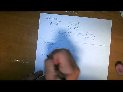 orthonormal orthogonal matrices